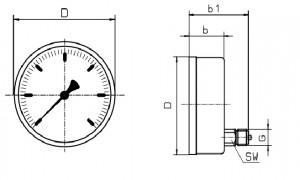 Đồng hồ đo áp suất 6030 suku