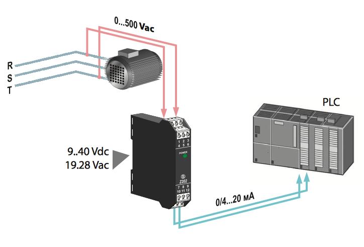 Bộ chuyển đổi nguồn áp 220V, 380v, 500V sang 4-20ma
