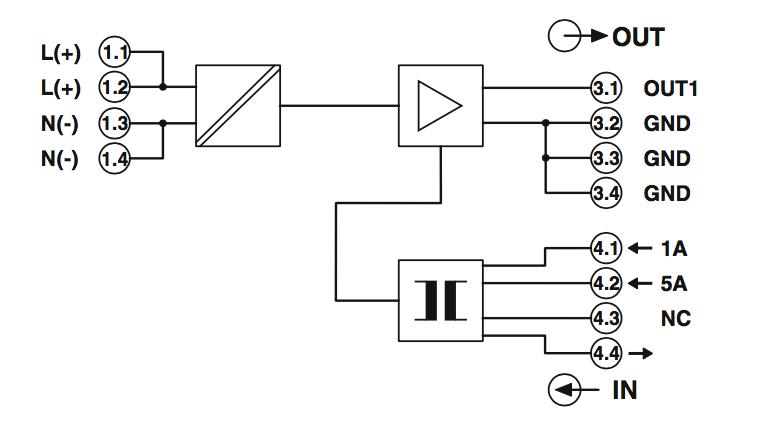 Sơ đồ khối Bộ chuyển đổi dòng 0-5A sang 4-20ma