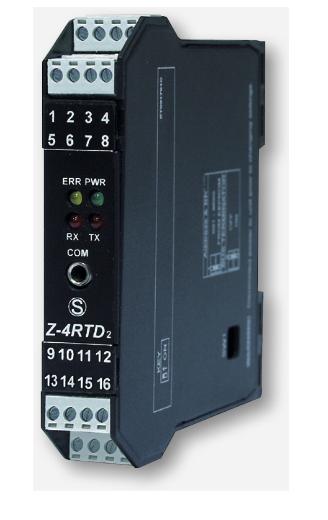 Bộ chuyển đổi tín hiệu 4 kênh Pt100 sang Modbus RTU Z-4RTD2