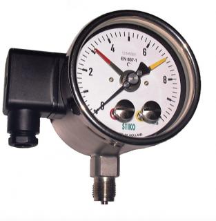 Đồng hồ đo áp suất Stiko dạng công tắc