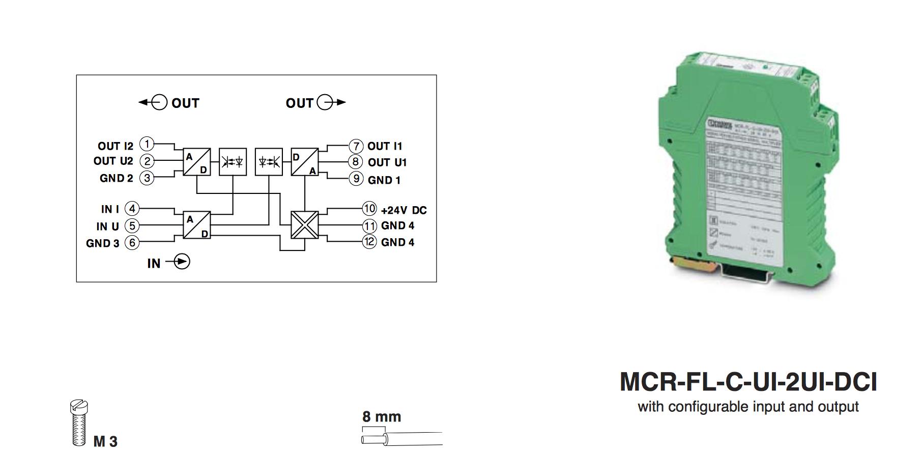 Bộ chuyển đổi tín hiệu Phoenix Contact, M-System- Bộ chia tín hiệu 4-20mA