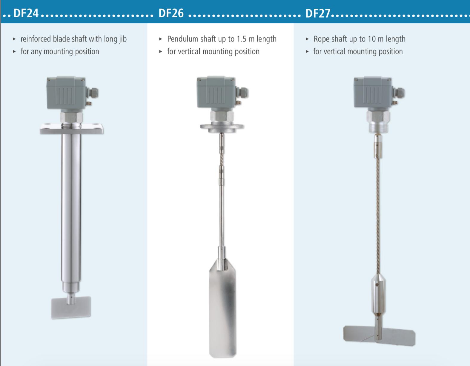 Bộ đo mức cánh xoay DF27 - Mollet loại ngắn