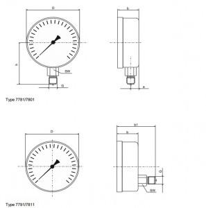 Đồng hồ đo áp suất -có điền dầu