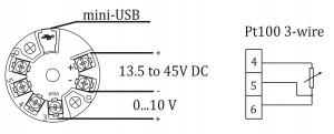 Bộ chuyển đổi tín hiệu pt100 sang 0-10v