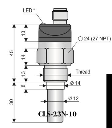 Cảm biến báo mức CLS-23N-10 Dinel