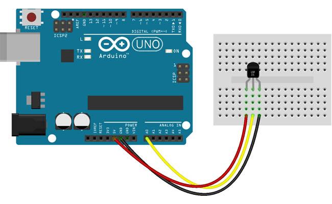 cảm biến nhiệt độ lm35 arduino