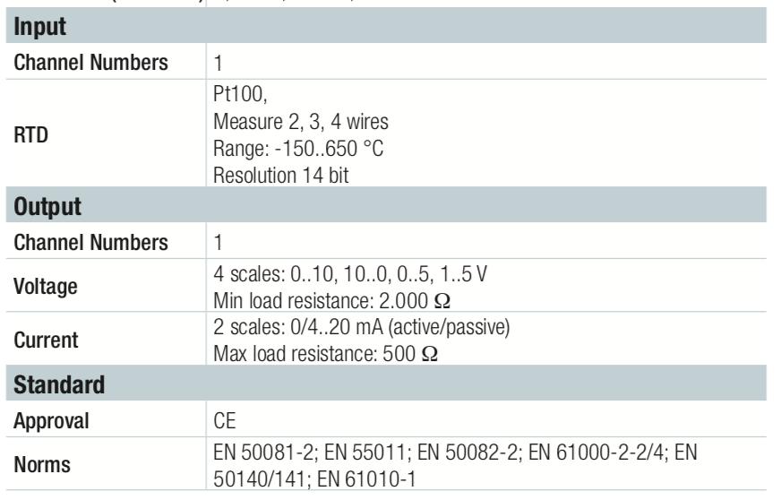 Thông tin kỹ thuật bộ chuyển đổi nhiệt độ K109PT