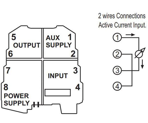 cách đấu dây bộ khuếch đại tín hiệu 4-20ma cho cảm biến