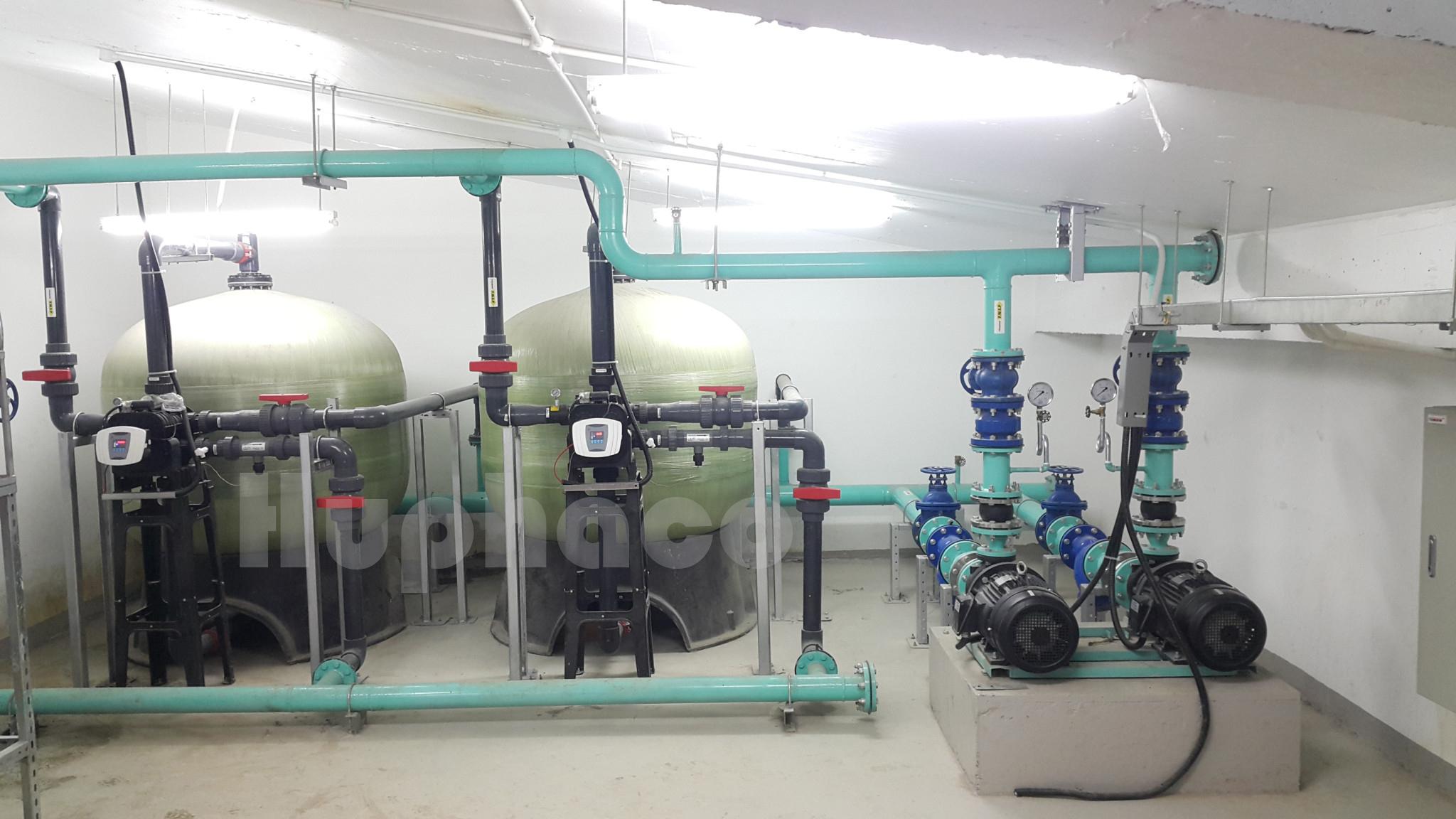 hệ thống xử lý nước dùng phao báo mức