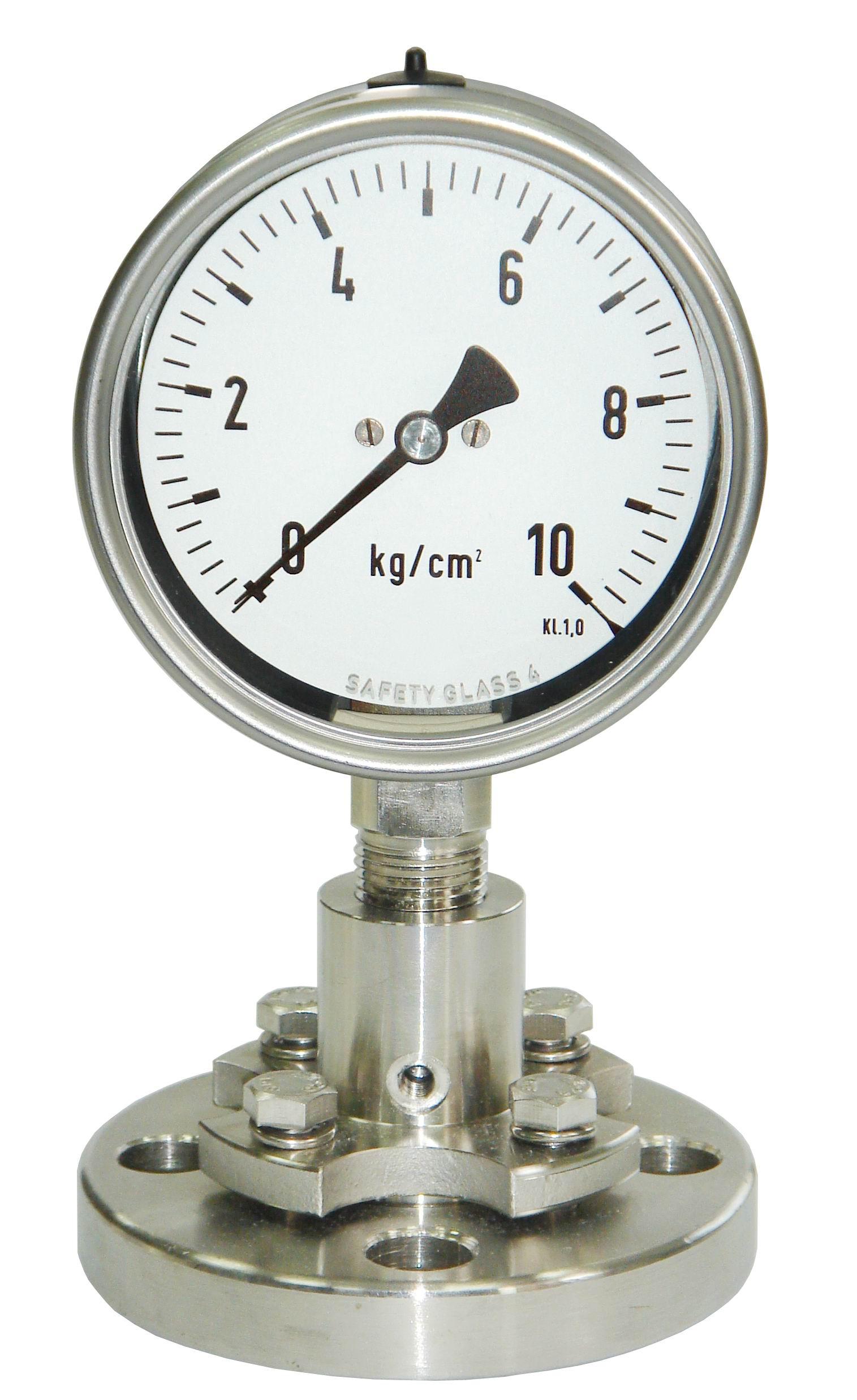 đồng hồ áp suất chân đứng